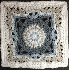 a knit and crochet community Crochet Square Blanket, Crochet Squares Afghan, Crochet Quilt, Granny Square Crochet Pattern, Crochet Blocks, Knit Crochet, Granny Squares, Crochet Stitches Free, Crochet Motif Patterns