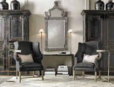 restoration hardware living room - Google Search