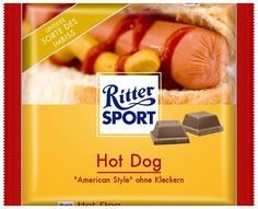 RITTER SPORT Fake Schokolade Sorte Hot Dog