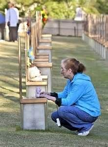 Paying tribute to one of the victims of the Oklahoma City bombings. Oklahoma City Bombing Memorial, Norman Oklahoma, Drum N Bass, Things Happen, Memories, Crime, Blessed, Forget, History