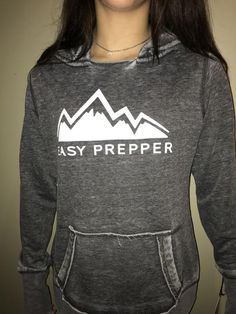 Ladies Pullover Distressed Hoodie super soft and comfy, fabric and cut/open neck, wonderful extra long cuffs to fold or roll. Edc Tactical, Stylish Outfits, Stylish Clothes, Hoodies, Sweatshirts, Pullover, Clothes For Women, Lady, Womens Fashion