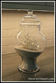Vase with sand