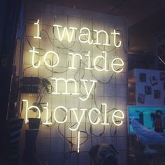 I want to tide my bicycle!