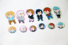 Mystic Messenger 6 Characters Stickers and Button Pins by TinInk on Etsy