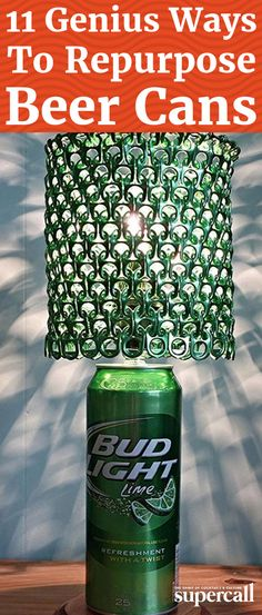 Instead of taking over the entire sidewalk with your spoils, put those beer cans to good use with a nifty DIY craft. Not only will you be helping out the planet, you'll also have fun creating something useful from your boozy exploits. Here are 11 creative ways to upcycle those empty brewskis.