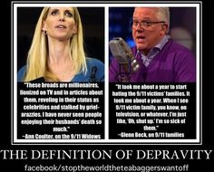 For the Ann Coulter quote, go here: http://thinkprogress.org/politics/2006/06/06/5655/coulter-911/ And for Glen Beck's quote, go here: http://www.godlikeproductions.com/forum1/message1632809/pg1