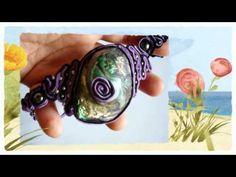 Soutache jewellery on youtube Soutache Jewelry, Wire Jewelry, Beaded Jewelry, Jewelery, Soutache Tutorial, Macrame Tutorial, Bead Crafts, Jewelry Crafts, Macramé Bracelets