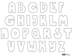 Get crafty without making a mess or breaking your budget with the help of these free printable bubble letters. Great for adults & kids! Stencil Lettering, Hand Lettering, Doodle Lettering, Typography, Bubble Letters Alphabet, Bubble Letter Fonts, Alphabet Fonts, Calligraphy Alphabet, Islamic Calligraphy