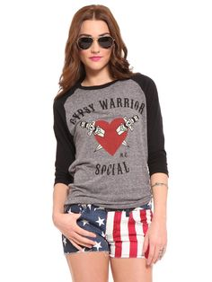 Gypsy Warrior Raglan Tee - Clothes | GYPSY WARRIOR