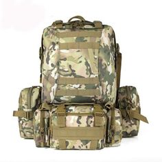 0879ccdae8e4 Camo Military Rucksack Outdoor Tactical Backpack Travel Camping Bags -  US 52.31   men