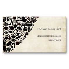 Chef business cards gallery business card template vintage gray chevron professional cook chef card by pip pip hooray vintage gray chevron professional cook colourmoves