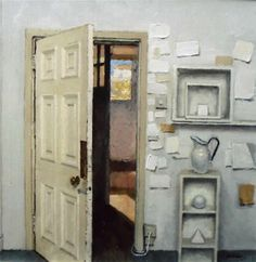 Interior with White Objects by Charles Hadaker