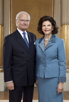 King Carl XVI Gustaf and Queen Silvia of Sweden.