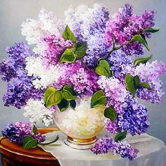 Special Square Pink And Lavender Flower Diy Diamond Painting Kits UK Diamond Drawing, 5d Diamond Painting, Mosaic Flowers, Flower Vases, Cross Paintings, Your Paintings, Easy Paintings, Lavender Flowers, Purple Flowers