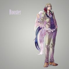 Hetalia characters as birds: Francis as a rooster - Art by えのきんぐ