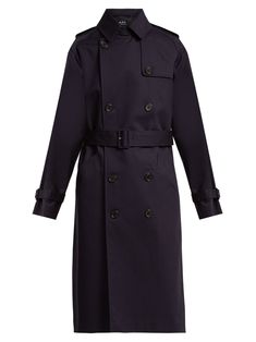 Greta double-breasted cotton trench coat | A.P.C. | MATCHESFASHION.COM US