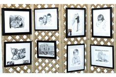 lattice, staple gun, hinges=art display walls - Art Fair Insiders