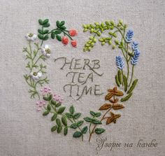 Узоры на канве: Herb Tea Time