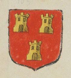 Urbain / René VINCENT, prêtre curé de Notre Dame du Marillais. Porte : de gueules à trois tours d'or, deux et une | N° 105