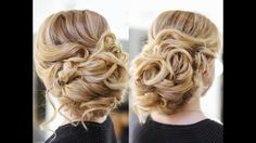 This video teaches how to do a beautiful, easy updo with big curls. Elegant, simple wedding prom hairstyles for long or medium hair.