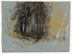 Joseph Mallord William Turner (brit. 1775–1851), Landscape with Trees, 1827, Gouache and watercolour on paper, 14 x 18.5 cm. London, Tate