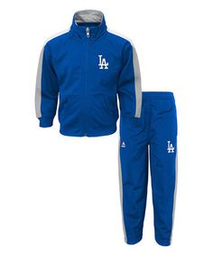 Love this Los Angeles Dodgers Pullover & Warm-Up Pants – Boys by Outerstuff on #zulily! #zulilyfinds