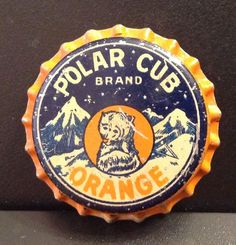 Polar Cub Orange soda bottle cap | Salem, Massachusetts USA | cap used 1930-1939