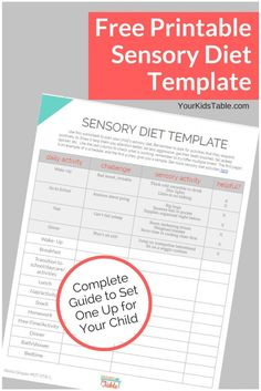 Grab your free printable sensory diet printable! Plus tips and tools to set one up that is easy for your child!
