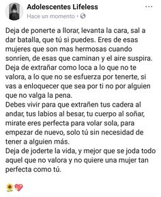Be brave and keep going🍃 Spanish Phrases, Spanish Quotes, Deep Words, Love Words, Heart Quotes, Me Quotes, Trauma, Sad Alone, It Hurts Me