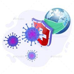 Stop Covid-19 Coronavirus Vector Illustration