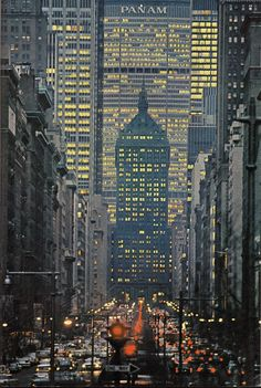 Park Avenue. NYC, 1964  New York is where I'd rather stay.  I get allergic smelling hay.  I just adore a penthouse view.  Dah-ling I love you but give me Park Avenue!