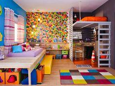 quarto infantil colorido para dois