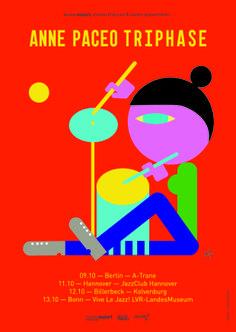 Jonathan Calugi x Jane Paceo Triphase - Poster design illustration  #posterdesign #illustration
