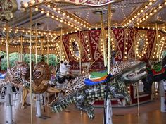 Jacksonville Zoo Carousel: Just like Pullen Park...I wonder if they have a donkey for Chippy to ride...?