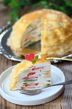 ■フルーツたっぷり♡チーズクリームのミルクレープ by れっさー ...