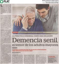 Universidad Católica San Pablo: Idiomas y demencia en adultos mayores en el diario Correo de Perú (12/10/16)