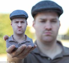 Mini-me: A company in Texas, U.S., is creating replica models of customers using pioneering 3D printing techniques. The models are between six and 15 inches tall, as shown by one client