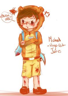 Michael Jones Part Two colored drawing Minecraft!AU