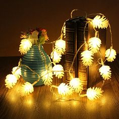 Bargain World 22m 20 LED Pine Cone String Light Lamp Christmas Wedding Party Decoration >>> This is an Amazon Affiliate link. You can get more details by clicking on the image.