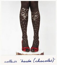 Hand-Painted Woodland Critter Tights, 44.00€   39 Pairs Of Statement Tights Just In Time For Fall