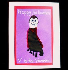 Easy Halloween Crafts: Handprint and Footprint Art