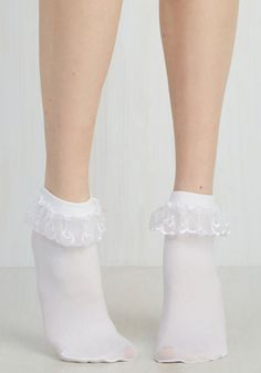 Just like you and your bestie, these white bobby socks are quite the stylish pair! Daintily detailed with lace eyelet trim along the folded cuff, these sheer socks are where classic meets oh-so-cute.