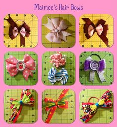 different styles of hair bows 1000 images about maimee s hair bows on 9734