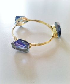 NEW  The Dallas  gold wire wrapped bracelet bangle by SOHbangles, $24.00