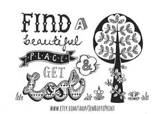 Limited edition inspirational black and white by JenRoffePrint, £20.00