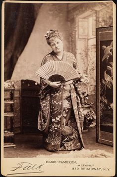 """Elsie Cameron as Katisha in the authorized American production of """"The Mikado"""" in 1885. Falk photograph."""