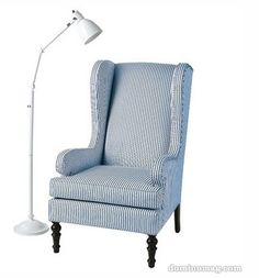 wingback chair. STRIPES