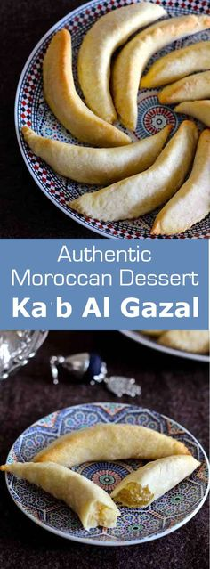 Cornes de gazelle are delicious traditional Moroccan pastries. These crescent shaped cookies are made with marzipan and orange blossom water. #Morocco #Moroccan #MoroccanCuisine #MoroccanRecipe #MoroccanFood #MoroccanDessert #MoroccaPastry #WorldCuisine #196flavors