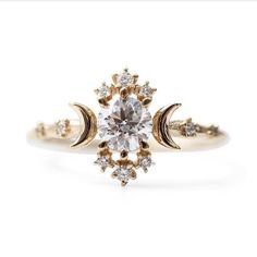 Beautiful moon diamond ring