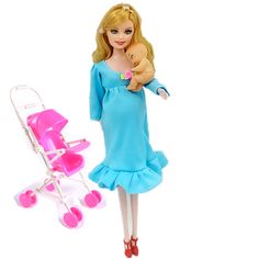 MOM+Baby+Stroller Toy Pregnant Doll Mini Baby In Belly Baby Alive Reborn Winx Doll In Her Tummy Real Happy Family Barbies C0A706 #>=#>=#>=#>=#> Click on the pin to check out discount price, color, size, shipping, etc. Save and like it!